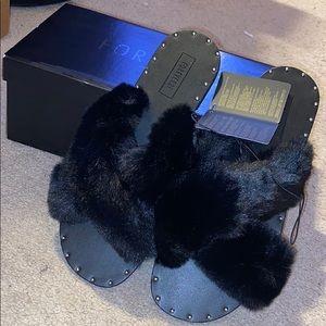 Forever 21 fur slides brand new in box